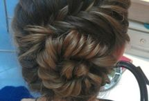 Hair stuff / Ideas for how to wear hair. Usually the more intricate the better. I love braid and buns.