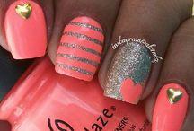 Nail art *hearts*
