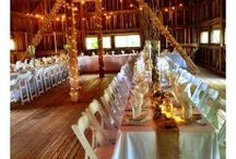 Eastern Shore Barn Wedding / Our gorgeous Amish bank barn is the perfect setting for your Eastern Shore wedding. With lights strung through the rafters, and waterfront views, your wedding will be breathtaking.
