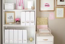 Pink & Gold Home Office
