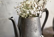Jugs and flowers