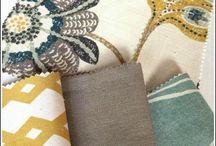 Mixing textiles home decor