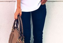 ❥ Jeans & leather...