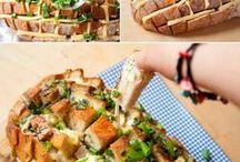 Brot mit Käsefüllung
