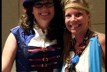 """Victorian Hat ~ Spirit of Iowa /  My hat design """"Spirit of Iowa"""" was worn by Sherrilyn Kenyon ~ writer extraordinaire to Dragon Con."""
