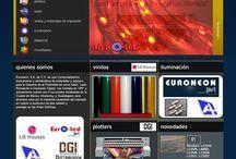 Euroneon / http://euroneon.com.mx/ Sitio basado en una plantilla prediseñada, a la que se le adapto su catálogo de productos, de fácil actualización. Destacados del proyecto: Sitio híbrido (Flash/HTML), y las ilustraciones de las viñetas y varios elementos más del sitio fueron realizadas por El Master
