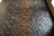 WOOD MOSAICS  (ideas+inspiration) / We at Rhodes Hardwood ♥︎ Custom Projects and we're always up for a challenge.  This inspiration board is to showcase ideas for wood mosaic floors.
