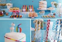rainbow themed birthday party.