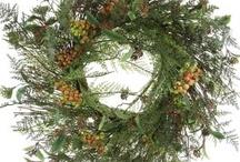 Pine & Foliage Decorative Wreaths, Balls, Trees, & Garlands