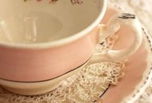 Vintage tea and coffe cups