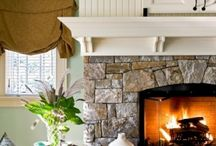 Fireplaces / Love the stone on his fireplace!