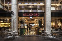 Absurd Bird, Exeter / DesignLSM, designlsm.com, completed the interior design for the launch of Absurd Bird in Exeter