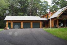 Log Garages / Full Log or Log sided garages