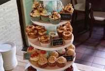 Wedding cake with Different tastes of cupcakes