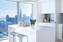 White Kitchens, Bed Rooms and Baths