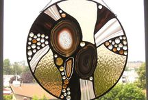soldering, stained glass, mixed