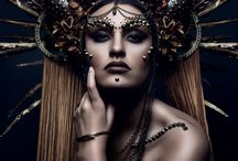 Face tatoo/unusual make-up/ head dresses