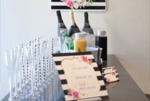 Brunch & Bubbly / Brunch & Bubbly - A champagne birthday brunch party in a black, white and gold color scheme
