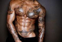 Guys with tattoos and  fit