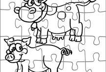Puzzle da Colorare / Puzzle da stampare e colorare per bambini gratis