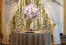 Purple and cream wedding / Images from a venue showcase event we created in 2015