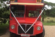 Big Red Bus at Layer Marney Tower / The iconic London Routemaster bus available for hire for any event