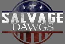 "Salvage Dawgs / The ""Salvage Dawgs"" Crew at Black Dog Salvage works hard to save America's history from the landfill. Whether it's a portico transformed into an outdoor kitchen or an iron lung, you never know what you will find here! / by Black Dog Salvage"