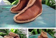 leather shoes and shoes in making