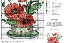 Flower Cross Stitch / Fleurs au point de croix