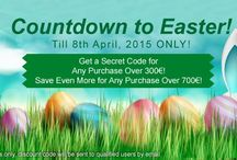 Easter Sale / Countdown to Easter! Celebrate with us to Get a Secret Coupon Code for Any Purchase Over 300€! Save Even More for Any Purchase Over 700€! *For registered users only, discount code will be sent to qualified users by email.