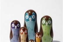 Owl matryoshka / Inspiration for nesting doll owls