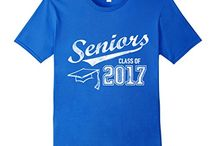 Class of 2017 Seniors Graduation Party Ideas T-Shirts Gifts