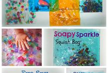messy play and sensory fun ideas / A multitude of fun can be had with messy and sensory play!