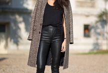 Chic outfits with leather pants.