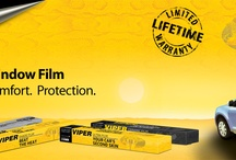 Viper Window Film / Viper Window Films are metallic free to ensure trouble free use of cell phone, GPS, satellite radio, tire pressure monitors, and most importantly your Viper Security and Convenience system. Viper Films are also guaranteed for life from fading, shrinking, and peeling. Viper Films block nearly 100% of UV rays which reduces glare and protects passenger and the interior of the vehicle, while adding a sophisticated look to your ride. / by Viper :