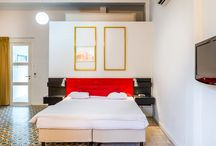 Deluxe room / These rooms are situated on the ground floor, they are larger than the comfort rooms and exit to the courtyard. One of these rooms is equipped with an L shaped patio with garden furniture. On request, we can place a baby bed in some of the rooms.