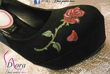 Beauty&Beast II / https://www.facebook.com/pages/DORA-Hand-Painted-Shoes/144006675801939 #handpainted #hand #painted #shoes #scarpe #dipinteamano #dipinte #art #fashion #high #heels #plateaux
