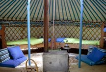Unique yurts / Beautiful yurts, decorated by hand / by Bijzonder Plekje