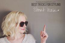 short hair don't care / Styling for short hair