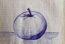 Рисунки в тетрадке