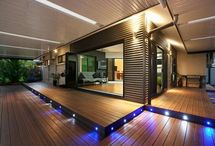 woodern deck  and lights