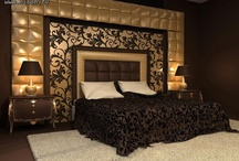 Chocolate and Champagne bedroom