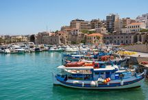 Heraklion - Crete / As the largest of the Greek islands, Crete offers something for everyone. With plenty of cheap flights to Crete on a regular basis, you can be arriving in this Greek paradise in no time. With gorgeous golden, white sands, mountainous terrain surrounded by greenery it really is a stunning island http://www.monarch.co.uk/greece/crete/flights
