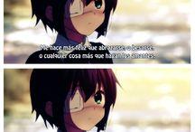 Anime / Chuunibyou love couple beso esquimal girl boy