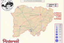 Provincia de Salamanca / Estas son las localidades de la Provincia de Salamanca que tratamos en nuestro perfil de Pinterest. En Conoce Extremadura no entendemos de fronteras.
