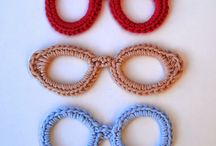 Crochet Eyes / Interesting crochet eyes and crochet glasses.