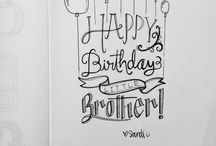 birthday letterings
