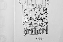 birthday letterings