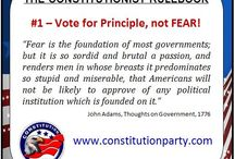 THE CONSTITUTIONIST RULE BOOK / Basic rules for being a Constitutionist. / by The Constitution Party