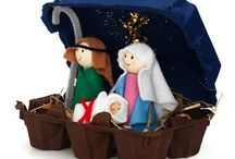 Kerststal knutselen